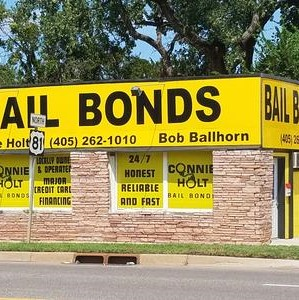 A view of the outside of the bail bonds building.